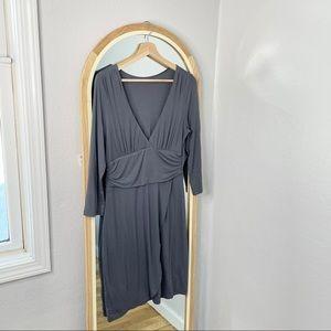 Velvet by Anthropologie gray charcoal gray dress